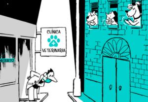 Ilustración en agradecimiento a los veterinarios y su función en los días de alarma sanitaria por el COVID19